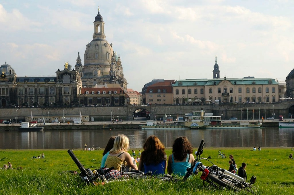 As bicis son parte activa da vida alemana