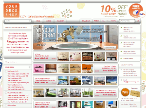 Pantallazo da web de yourdecoshop