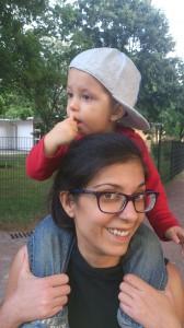 Eva, con su hijo Luisito