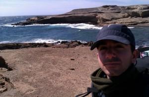 Rubén en un viaje a las Canarias