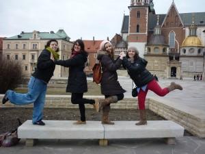 Francesca, Luna, Alba y Valeria juntas de viaje