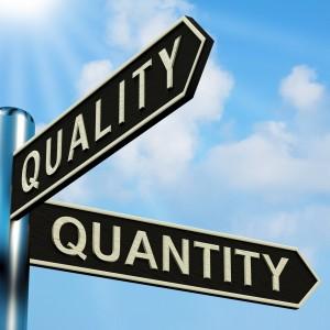 Calidade vs Cantidade